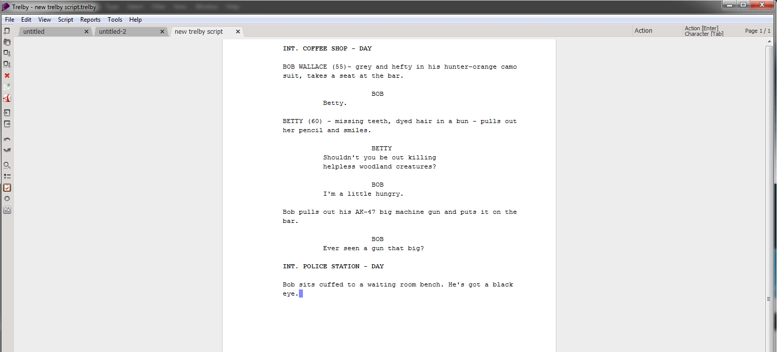 Screenwriting Program Trelby
