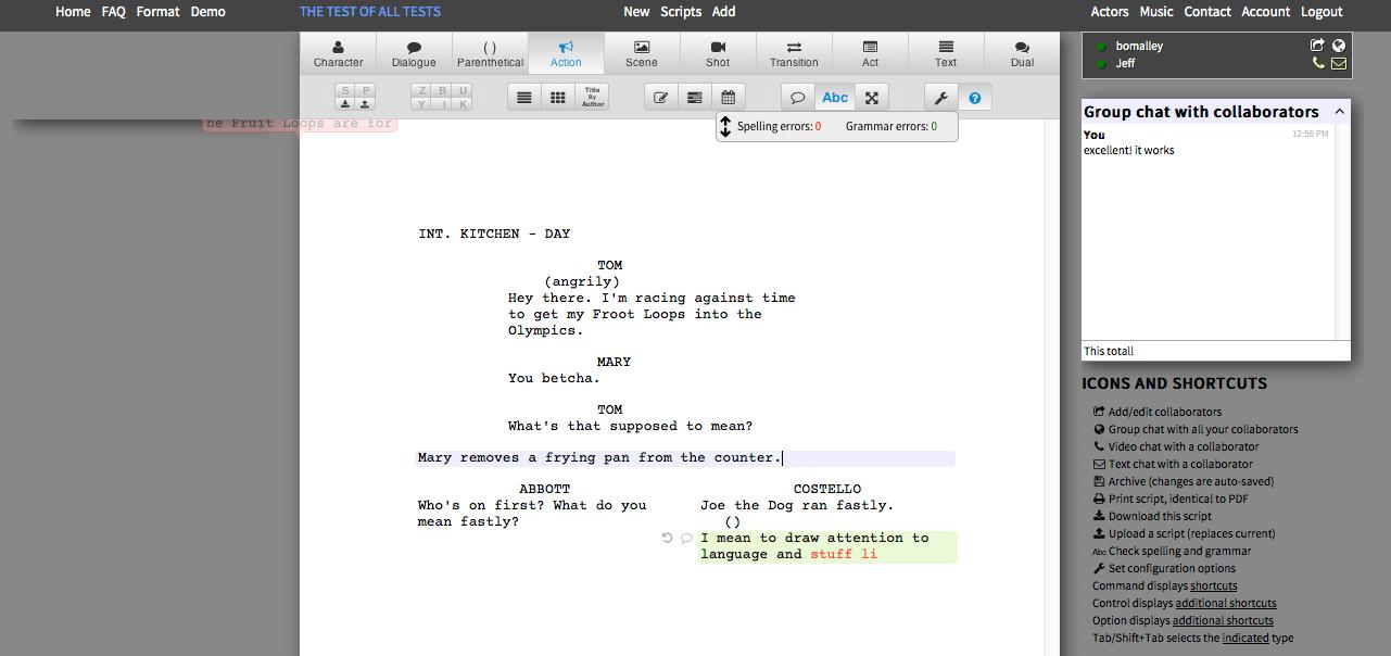 Writer Duet Screenshot 1