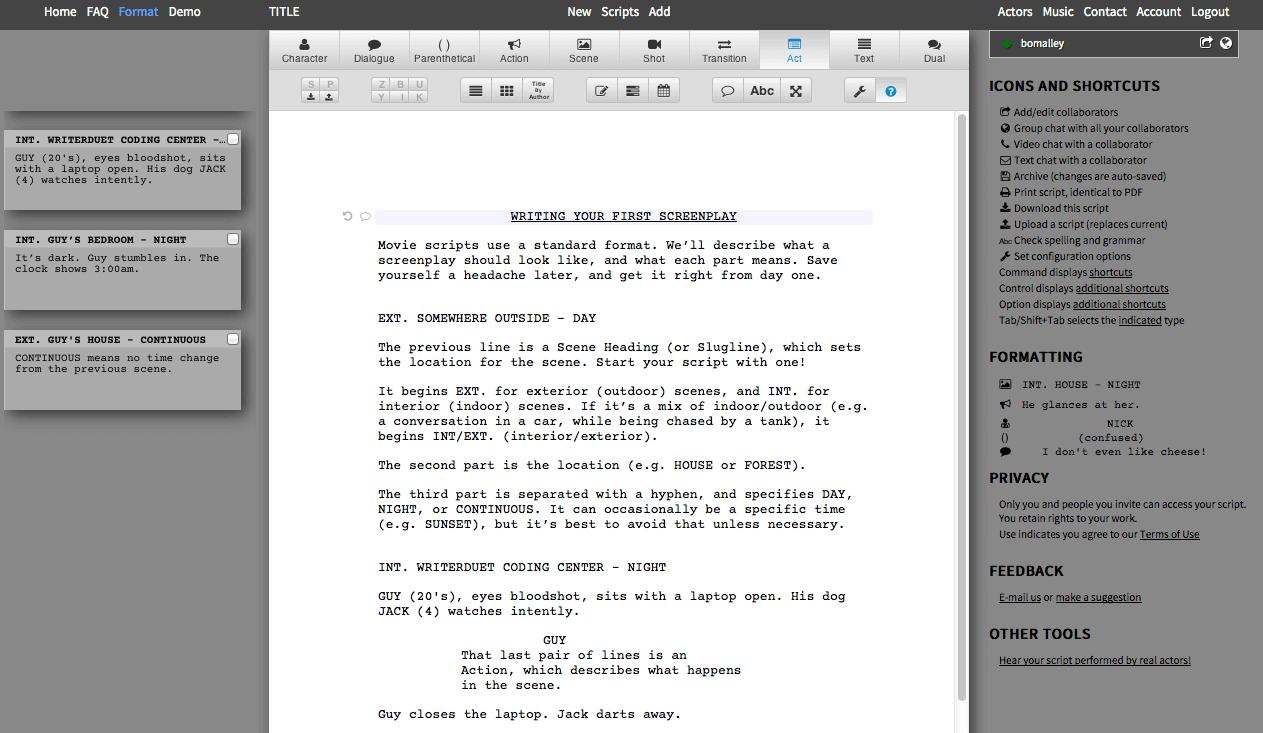 Writer Duet Screenshot 2
